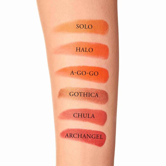 Studded Kiss Lipstick, A-Go-Go - matte neon orange